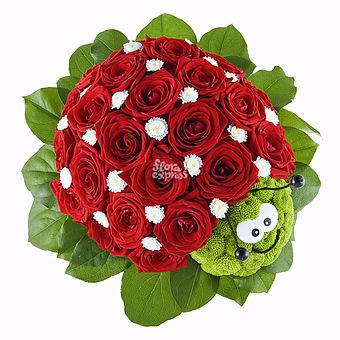 Букет Твоя улыбка: Розы