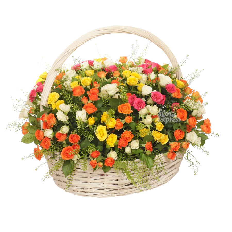 Купить корзину из цветы недорого в новосибирске