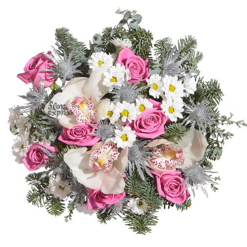 Розовая изморозь - изображение букета 2