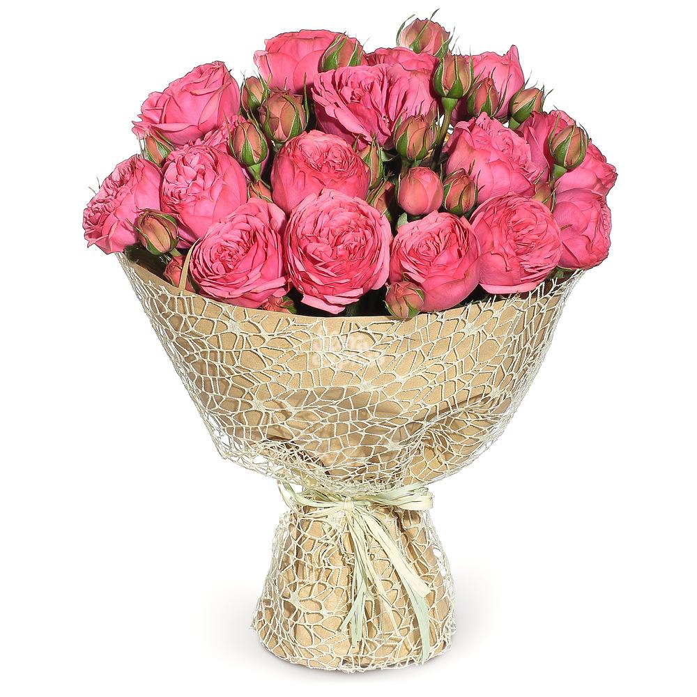 Букет «Flora Express» Кустовые розы «Pink piano» фото