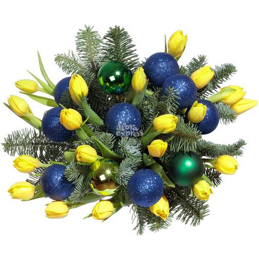 Новогодний фейерверк - изображение букета 2